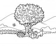 Coloriage et dessins gratuit Campagne paysage  couleur à imprimer