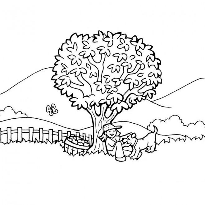 Coloriage et dessins gratuits Campagne paysage  couleur à imprimer