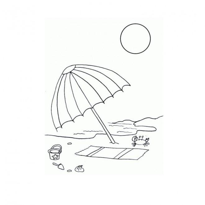 Dessin De Paysage De Noel Facile : coloriage parasole sur la plage dessin gratuit imprimer ~ Pogadajmy.info Styles, Décorations et Voitures