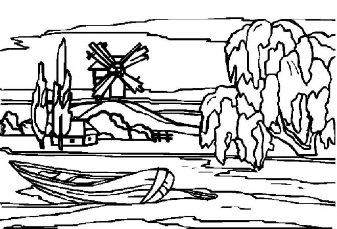 Coloriage et dessins gratuits Paysage de Neige à imprimer