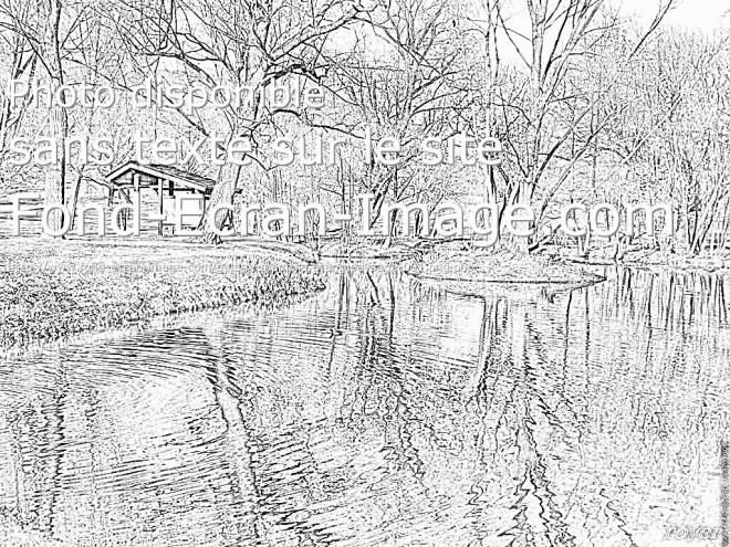 Coloriage et dessins gratuits Paysage de Rivière réaliste à imprimer