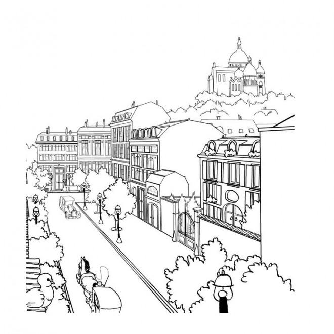 Coloriage et dessins gratuits Paysage de ville à imprimer