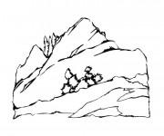 Coloriage Paysage Montagne