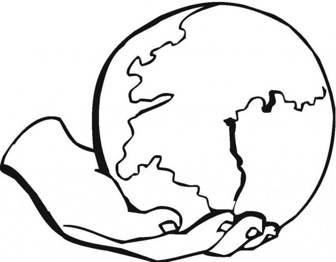 Coloriage et dessins gratuits Globe Terrestre à imprimer