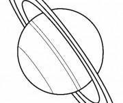 Coloriage Grosse Planète Saturn