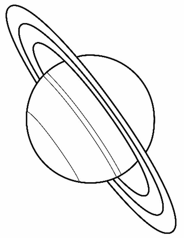 Coloriage et dessins gratuits Grosse Planète Saturn à imprimer