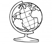 Coloriage La carte de Terre