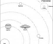 Coloriage La composition du système solaire