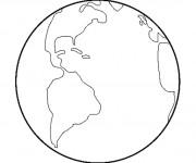 Coloriage La Planète Terre facile