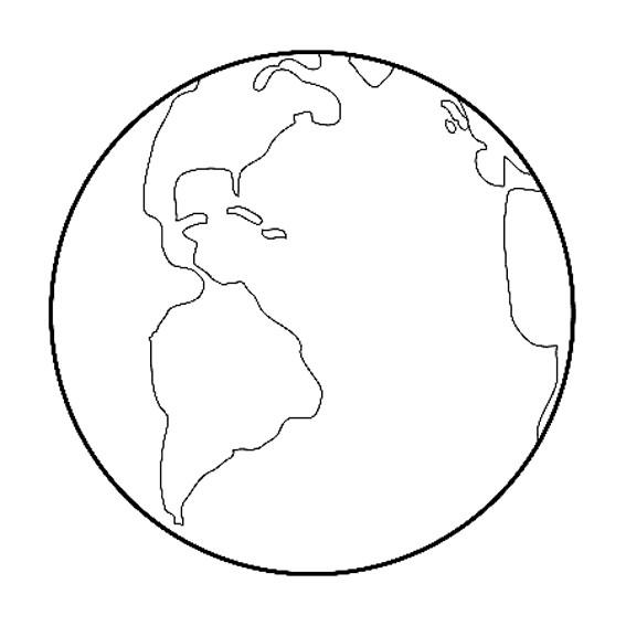 Coloriage La Planète Terre Facile Dessin Gratuit à Imprimer