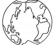Coloriage La terre à télécharger