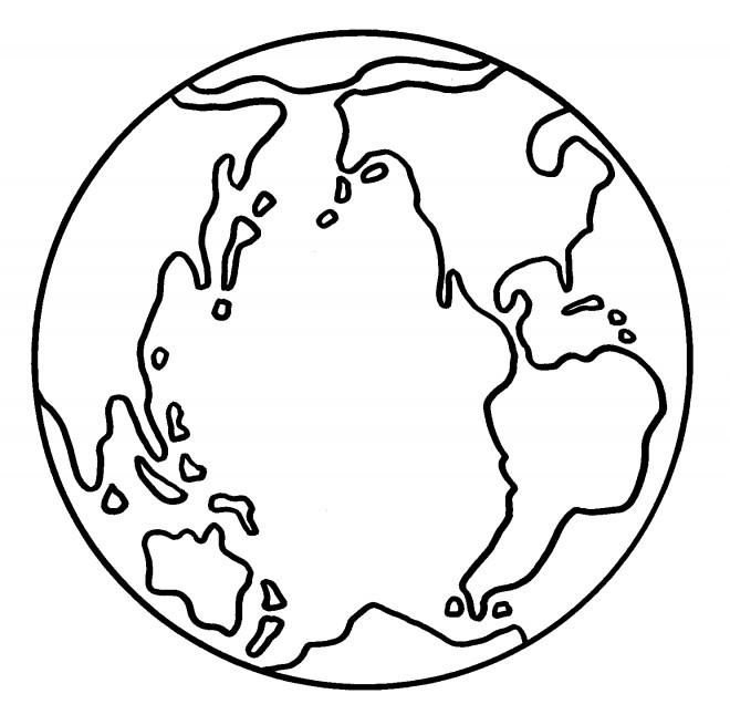 Coloriage et dessins gratuits La terre à télécharger à imprimer
