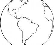 Coloriage et dessins gratuit La terre en couleur à imprimer