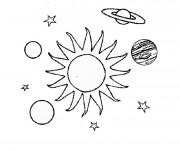 Coloriage et dessins gratuit Le système solaire à imprimer