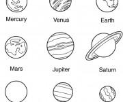 Coloriage et dessins gratuit Les planètes du système solaire à imprimer