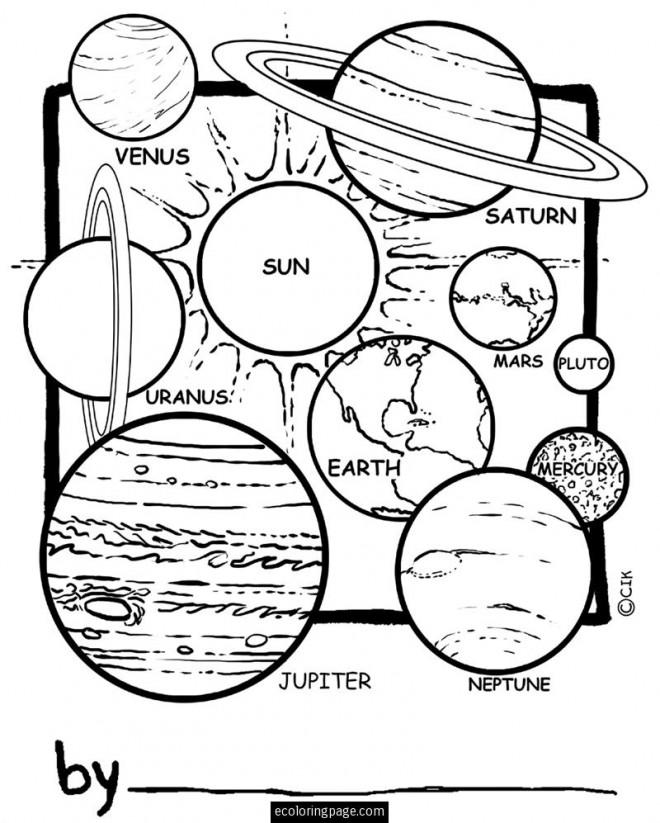 Bien-aimé Coloriage Planete 24 dessin gratuit à imprimer YV27