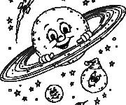 Coloriage dessin  Planete 8