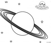 Coloriage Planète et les Extraterrestres