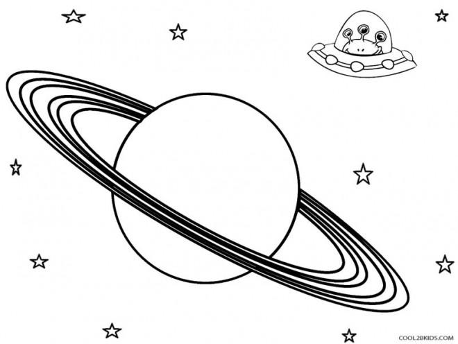 Coloriage et dessins gratuits Planète et les Extraterrestres à imprimer