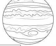 Coloriage Planète Jupiter immense