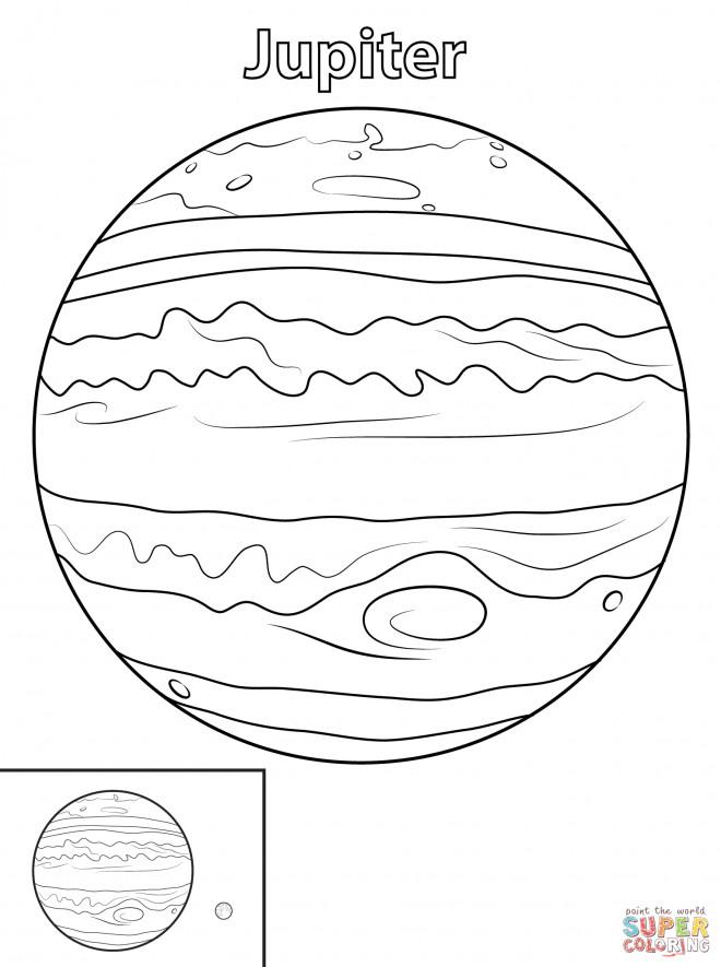 Coloriage Planète Jupiter Immense Dessin Gratuit à Imprimer