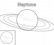 Coloriage Planète Neptune