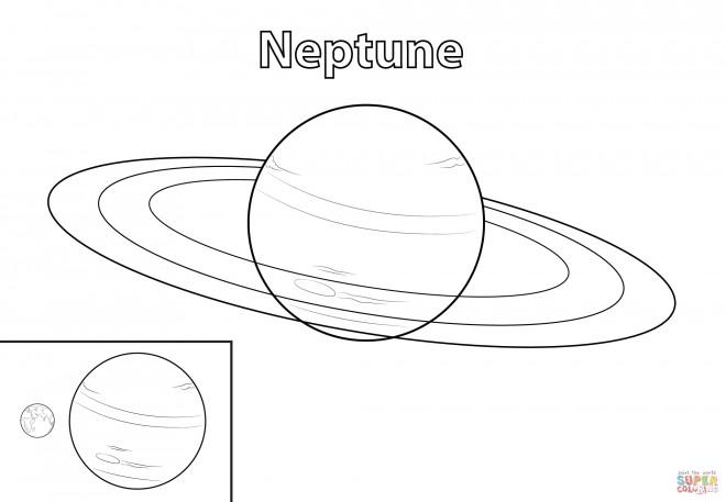 Coloriage et dessins gratuits Planète Neptune à imprimer