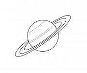 Coloriage et dessins gratuit Planète Saturn à imprimer
