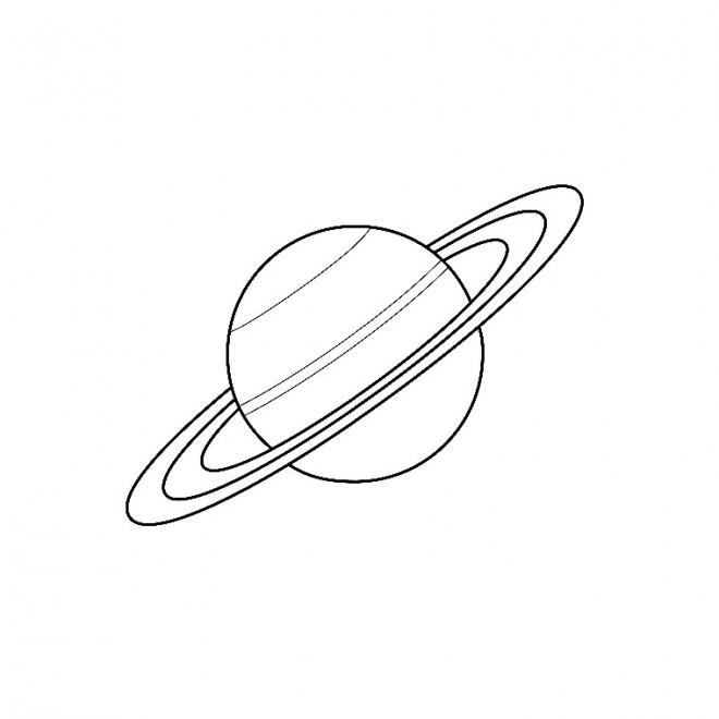 Coloriage et dessins gratuits Planète Saturn à imprimer