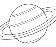 Coloriage Planète Saturn en noir