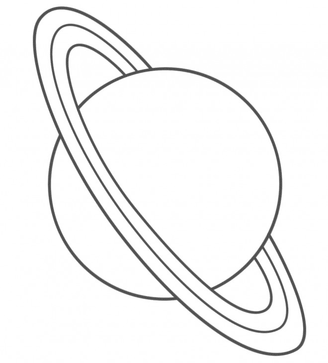 Coloriage et dessins gratuits Planète Saturn Géante à imprimer