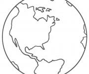 Coloriage et dessins gratuit Planète Terre à imprimer
