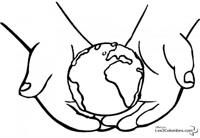 Coloriage et dessins gratuits Planète Terre à colorier à imprimer