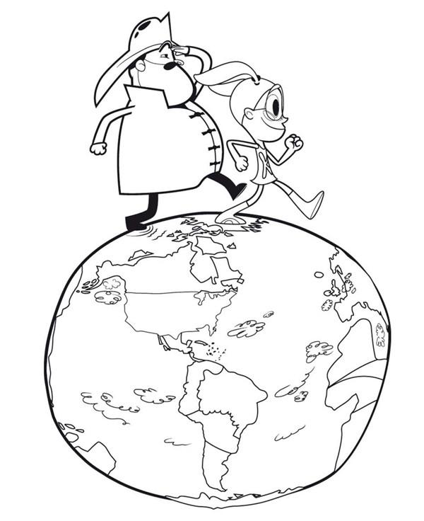 Coloriage et dessins gratuits Planète Terre dessin animé à imprimer