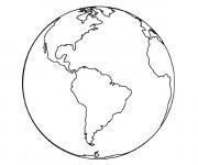Coloriage et dessins gratuit Planète Terre maternelle à imprimer