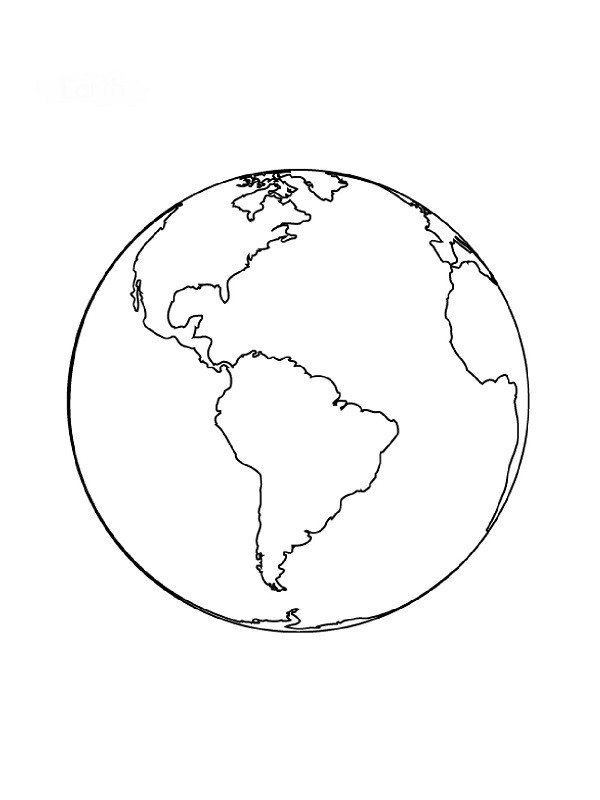 Coloriage et dessins gratuits Planète Terre maternelle à imprimer