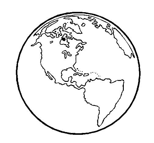 Coloriage et dessins gratuits Planète Terre vecteur à imprimer
