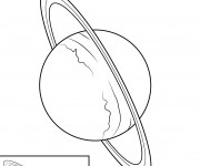 Coloriage Planète Uranus