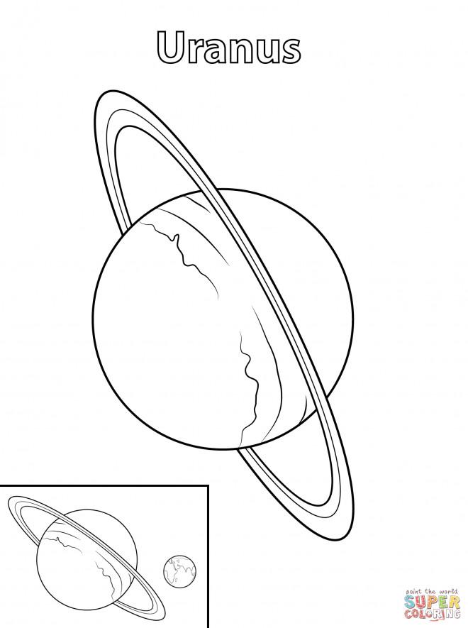 Coloriage et dessins gratuits Planète Uranus à imprimer