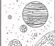 Coloriage Planètes dans l'espace