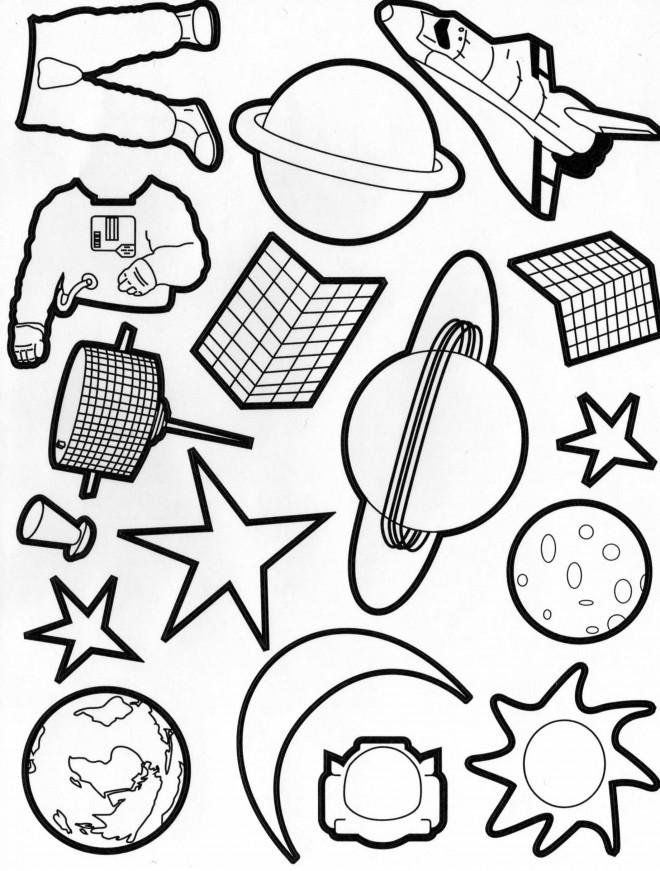 Coloriage et dessins gratuits Planètes et astronautes à imprimer