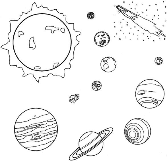 Coloriage et dessins gratuits Planètes et Soleil à imprimer