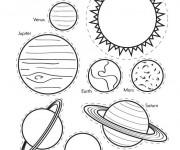 Coloriage et dessins gratuit Planètes et système solaire couleur à imprimer