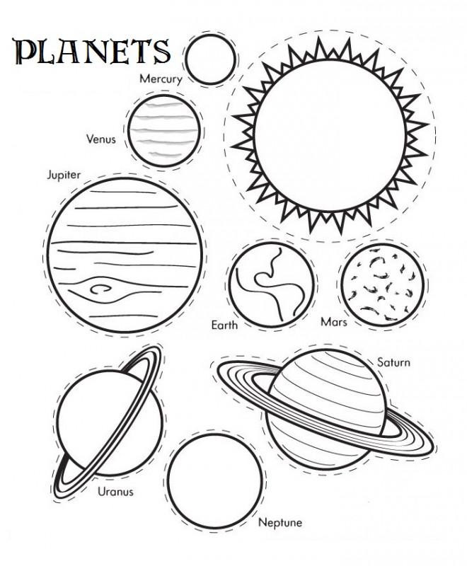 Coloriage Planetes Et Systeme Solaire Couleur