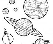 Coloriage et dessins gratuit Planètes stylisées à imprimer