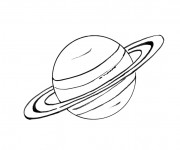 Coloriage Saturn en couleur