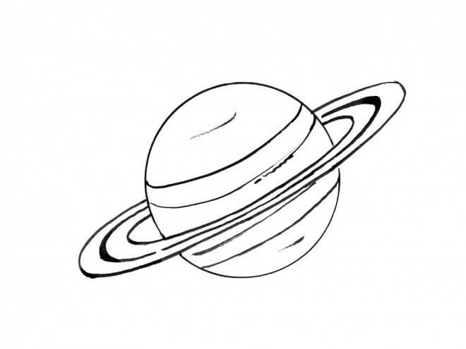 Coloriage et dessins gratuits Saturn en couleur à imprimer
