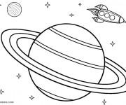 Coloriage Un fusil dans l'espace