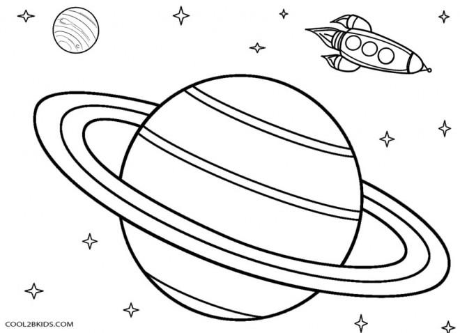 Coloriage Espace Planete.Coloriage Un Fusil Dans L Espace Dessin Gratuit A Imprimer