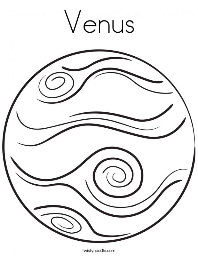 Coloriage et dessins gratuits Venus en noir et blanc à imprimer